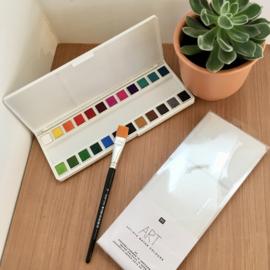 Aqaurelverf 24 kleuren