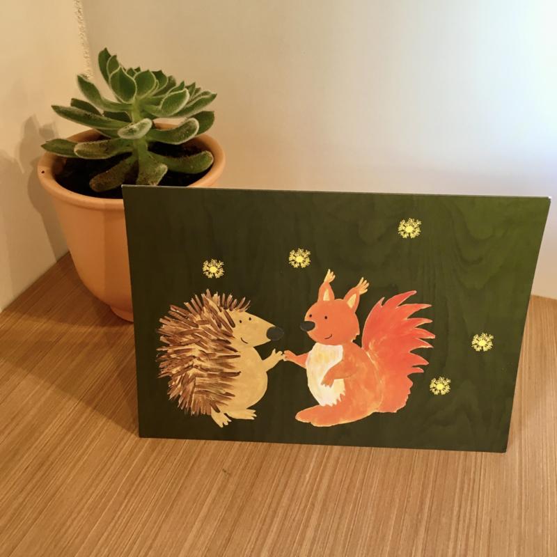 Egel en eekhoorn nieuwjaarsbrief