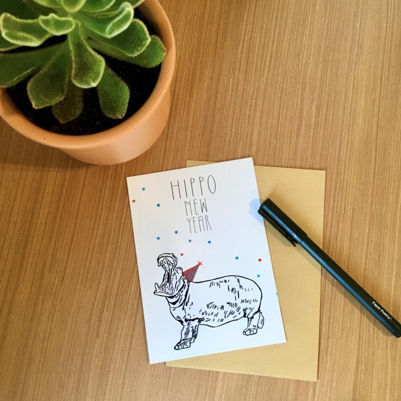 Wenskaart Nijlpaard