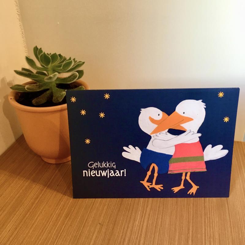 Omarmende Vogels nieuwjaarsbrief