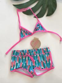Le Big bikini voor meisje van 3 jaar met maat 98