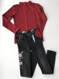 Indian Blue Jeans spijkerbroek met bloemenprint voor meisje van 8 jaar met maat 128