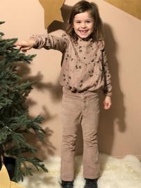 Buho rib broek met wijde pijpen voor meisje van 3 jaar met maat 98