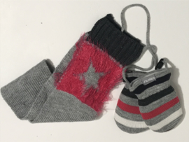 Barts wanten  en sjaal voor meisje 0 tot 12 maanden