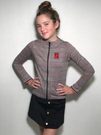 Kie Stone vest voor meisje van 7 / 8 jaar met maat 122 / 128