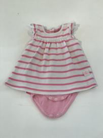 Petit Bateau jurkje met romper eraan voor meisje van 1 / 3 maanden met maat 54 cm