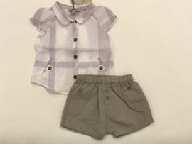 Burberry blouse voor meisje van 9 maanden met maat 74