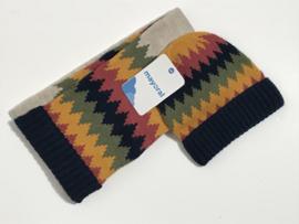 Mayoral set muts en sjaal voor jongen van 6 maanden met maat 68