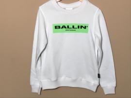 Purewhite trui Ballin voor jongen van 8 jaar met maat 128