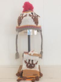 Barts sjaal muts set voor meisje tussen de 12 en 18 maanden met maat 47