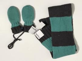 Babyface set sjaal en wanten voor jongen  of meisje tussen 3 en 6 maanden