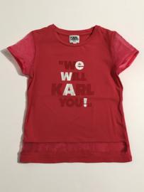Karl Lagerveld t-shirt voor meisje van 6 jaar met maat 116