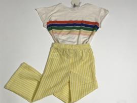 Ammehoela wijde pijpen broek voor meisje van 3 / 4 jaar met maat 98 / 104