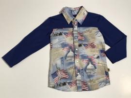 Vintage Cowboys zacht overhemd voor jongen van 3 / 4 jaar met maat 98 / 104