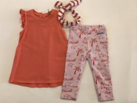 Ammehoela legging / broekje voor meisje van 1 / 3 maanden met maat 50 / 56
