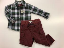 Claesens overhemd voor jongen van 6 / 9 maanden met maat 68 / 74