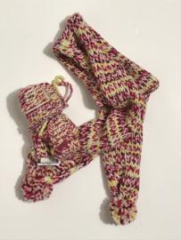 Babyface set sjaal en wanten voor jongen  of meisje tussen 9 en 12 maanden