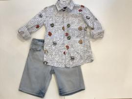 Monnalisa overhemd voor jongen  van 10 jaar met maat 140