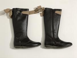 Leren laarzen met strik voor meisje met schoenmaat 32