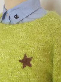 Retour trui geel voor meisje van 12 jaar met maat 152