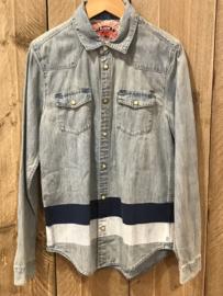 Scotch Shrunk spijkerhemd voor jongen van 14 jaar met mat 164