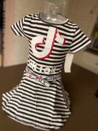 Zwart/wit strepen Tik Tok jurkje