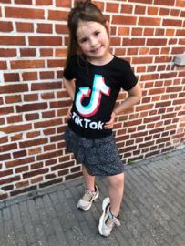 Zwarte Tik Tok T-shirt