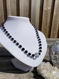 Bergkristal met Onyx