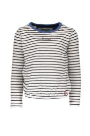 Moodstreet T-shirt LS stripe AWKWARD