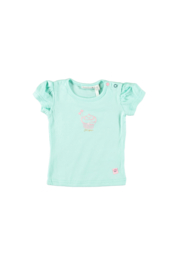 Bampidano baby girls t-shirt plain s/s mint