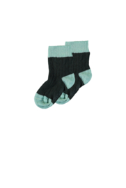 TNC socks with contrast parts pine green
