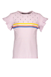Nono kalina shirt with ruffled ends, rainbow artwork