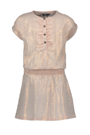 Flo girls woven lurex stripe dress