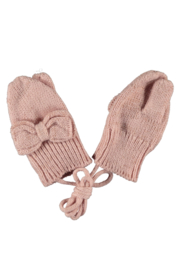 Le Chic baby knitted mittens pink