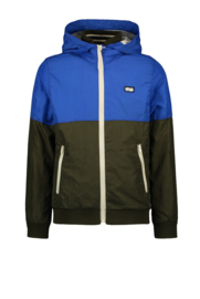 Flo boys hooded colourblock jacket cobalt