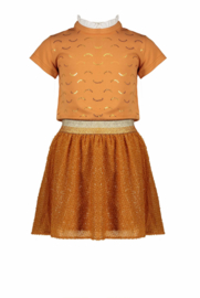 Nono combi dress wink pink jersey top and dobby voile skirt