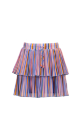 Nono Nikkie 2 layered short skirt in bright stripes