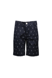 LCG shorts golfing allover blue navy