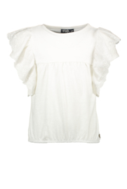 Flo girls jersey broidery anglais ruffle top