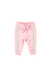 Bampidano baby girls pants special fabric + knitted stripe tape