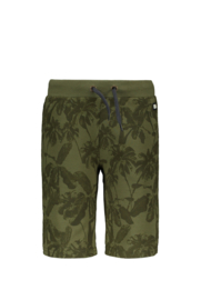 Flo boys short sweat pants olive palm
