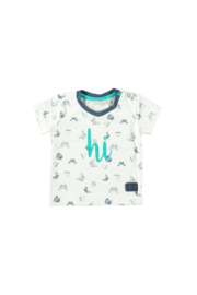 Bampidano baby boys t-shirt allover print V-neck