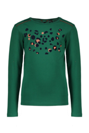 Nono longsleeve with flock leopard print