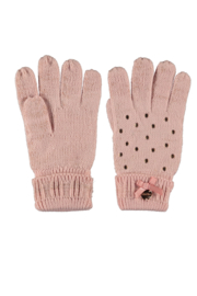 Le Chic knitted gloves pink