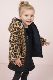 Flo baby girls jacquard snake colour block dress