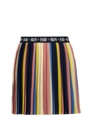 Flo girls multi stripe plisse skirt