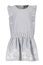 Flo baby girls seersucker anglaise ruffle dress