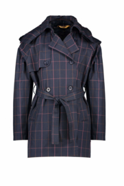 Nono trenchcoat coated herringbone check