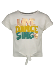 Flo girls knotted sweater LOVE-DANCE-SING