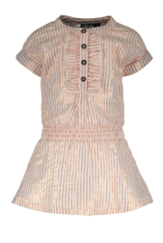 Flo baby girls woven lurex stripe dress